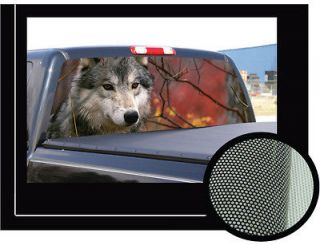 GRAY WOLF 16x54 Rear Window Graphic pickup truck decal tint wolves