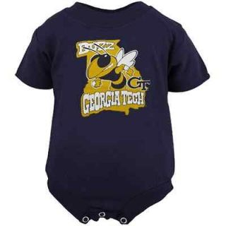 Georgia Tech Yellow Jackets Infant Navy Blue Embroidered Logo Creeper
