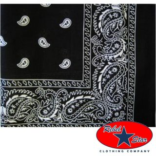 Black Traditional Bandana Punk Rockabilly Tattoo 80s Goth Cool Skater