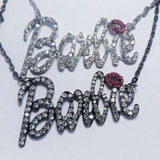 Barbie necklace pendant iced out   toys girls nicky minaj bling dolls