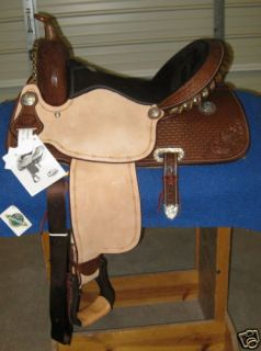 15 in Dark Oil Billy Cook Barrel Racing Flex Saddle
