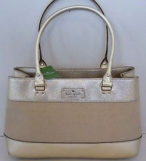 KATE SPADE Elena Bag Belle Isle Handbag Natural & Gold