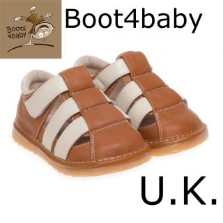Boys Childrens Infant Toddler Leather Squeaky Shoe Summer Sandals