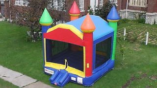 Used Commercial Inflatable Bounce House Rainbow Moonwalk Jumping