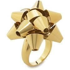 Kate Spade Bourgeois Bow Gold Ring Size 7 NEW NWT