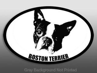 Oval Boston Terrier Sticker  1 decal dog breed stickers
