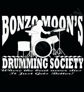 Drummers T Shirt Keith Moon John Bonham Inspired T Shirt Led Zeppelin
