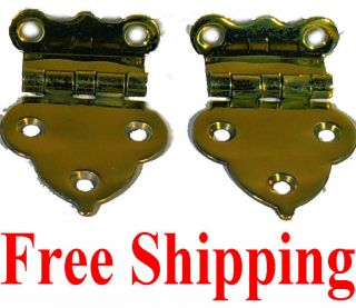 1503 BOONE STYLE BRASS OFFSET CABINET HINGES, *MAKE OFFER FOR 2 or