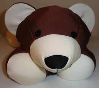 Brentwood Moshi Microbead Brown Teddy Bear Pillow Plush 19 Long