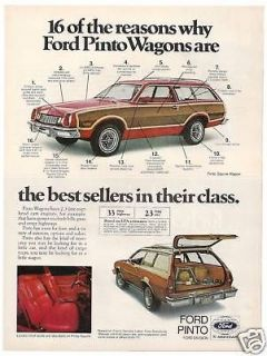 1978 Ford Pinto Station Wagon photo car print ad