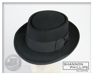 Black CRUSHABLE PORKPIE Jazz Hat ALL SIZES INSTOCK New Pork Pie
