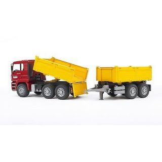 Bruder Toys MAN Construction Dump Truck Trailer TGA 02756 Toy