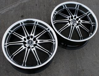 RVM 395 17 BLACK RIMS WHEELS JETTA GOLF GTi MKIV