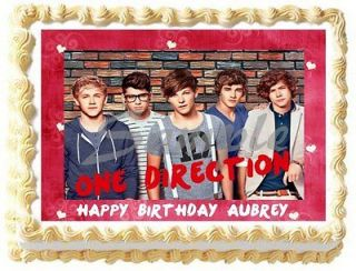1D Balloons Theme Edible Cake Topper Image Cupcakes ALL SIZES