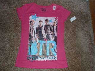 BIG TIME RUSH PINK T SHIRT NEW WITH TAGS CARLOS KENDALL JAMES LOGIN