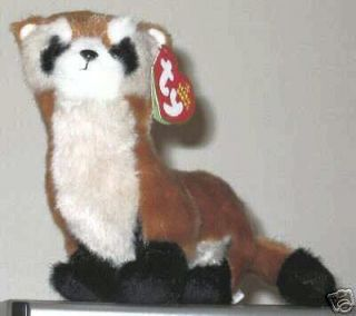 Ty SHILOH the Black Footed Ferret Beanie Baby Ty Store Exclusive WWF
