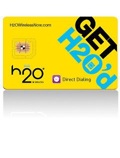 Prepaid H2O Wireless Micro Sim Card on AT&T Network for iphone 4/4s