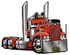 CARTOON BIG RIG SEMI TRUCK T SHIRT #9081 HAULER