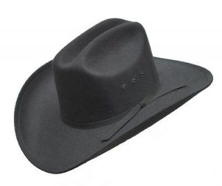 Black Felt COWBOY HAT   with Band   Lined   New   Size 7 5/8 or 61 cm
