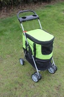 New Ultimate Green 4 IN 1 Pet Dog Cat Stroller Carrier car Seat House