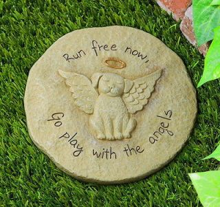 Dog Memorial Stepping Stone Run Free Now Play With Angels From