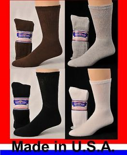 Pair Mens Women Physicians Choice Crew Cushioned Diabetic Socks