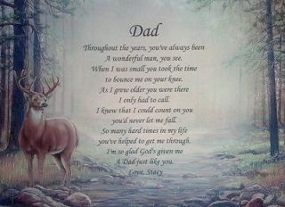 DAD POEM PERSONALIZED GIFTS FOR BIRTHDAY, CHRISTMAS, FATHERS DAY