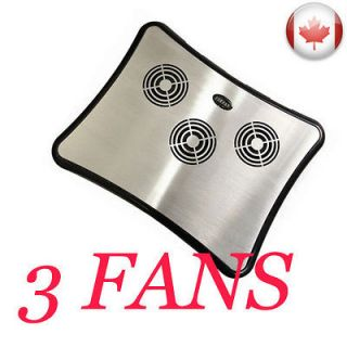 Newly listed ALUMINUM USB NOTEBOOK LAPTOP COOLING PAD COOLER 3 FANS