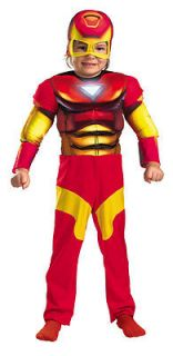 Size 2T Toddler Deluxe Muscle Iron Man Costume   Iron Man Costumes