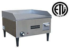 Uniworld UGR 4E 18 Commercial Electric Griddle 110V