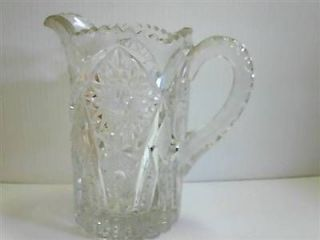 ANTIQUE CAMBRIDGE MARJORIE PATTERN CRYSTAL ETCHED CUT GLASS WATER