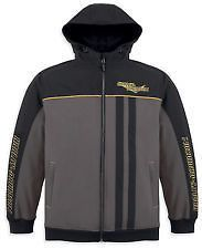 Harley Davidson Jacket Mens Gray Black Fuel Cell Soft Shell Windproof