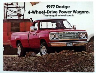 Dodge 1977 Power Wagon Truck Brochure