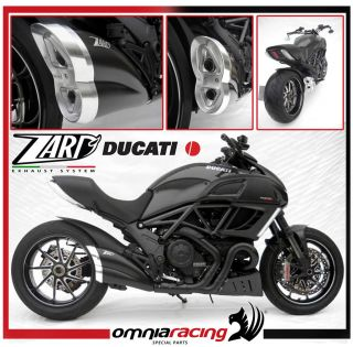 Zard Exhausts Black Steel Racing Muffler for Ducati Diavel / Carbon
