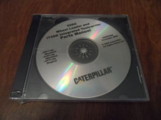 OEM Caterpillar 928G Wheel Loader PartsCatalog Manual CD Disc