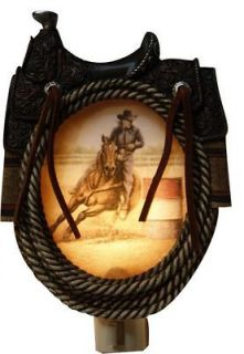 3D Western Barrel Racer Saddle Rope Rodeo Night Light Horse Gift Hand
