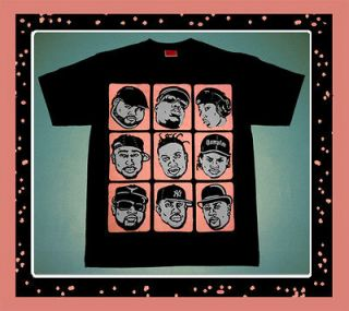 Mango grey RIP HIP HOP shirt Lebron 9 2pac Biggie Eazy E x 10 shoes L