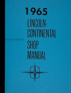 1965 Lincoln Continental Shop Manual 65 Repair Maintenance Service