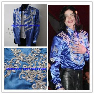 AMAZING MICHAEL JACKSON BLUE SHIRT FOR Christian Audigiers 50th
