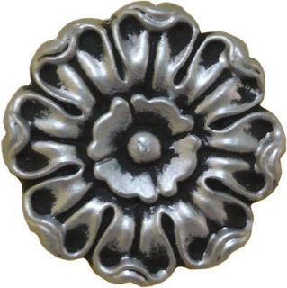 Ornament Accent Rosette SF203036 Antq Gold Brass Copper Silver