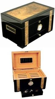 NEW CUBAN CRAFTERS EXOTICA 150 COUNT CIGAR CEDAR WOOD HUMIDOR BOX