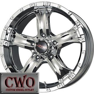 18 Chrome MB Chaos 5 Wheels Rims 5x150 5 Lug Toyota Tundra Squoia