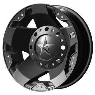 17X6 XD Rockstar Dually Matte Black Wheels FRONT/REAR SET 8X200 05 12