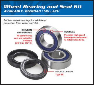 Front Wheel Bearing Seal Kit Honda 250 Recon 350 Rancher 01 02 03 04