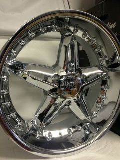 20 Inch Chrome VCT Bruno Wheels Rims Chevrolet Tahoe GMC Yukon