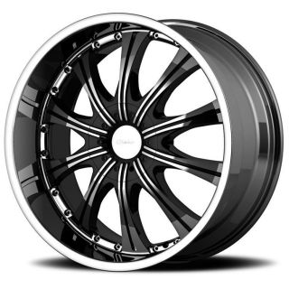 22 inch Diamo 30 karat black wheels rims 6x5.5 6x139.7