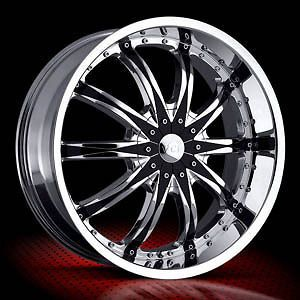 NEW 22 VCT ABRUZZI CHROME/BLK. INSERTS 5X115/5X120
