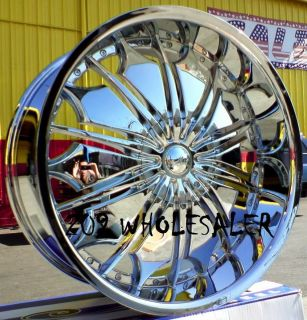 26 INCH TF706 RIMS & TIRES ESCALADE YUKON EXPEDITION SILVERADO SIERRA