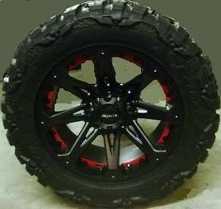 JESTER 8X6.5 W/ 33X12.50X18LT NITTO MUD GRAPPLER MT WHEELS RIMS