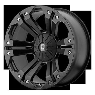 18 x 9 XD Monster Black Rims w 35x12 50x18 Toyo Open Country MT Tire